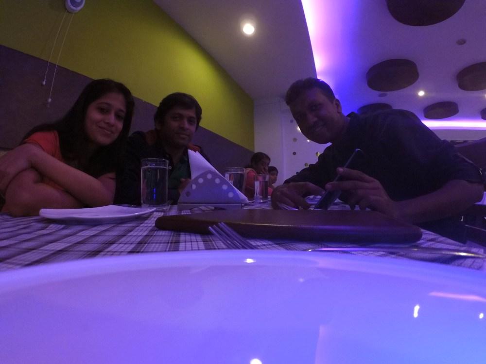 dinner with Manmath and Priyanka
