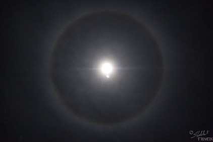 Halo of the moon perfectly captured by Shobit