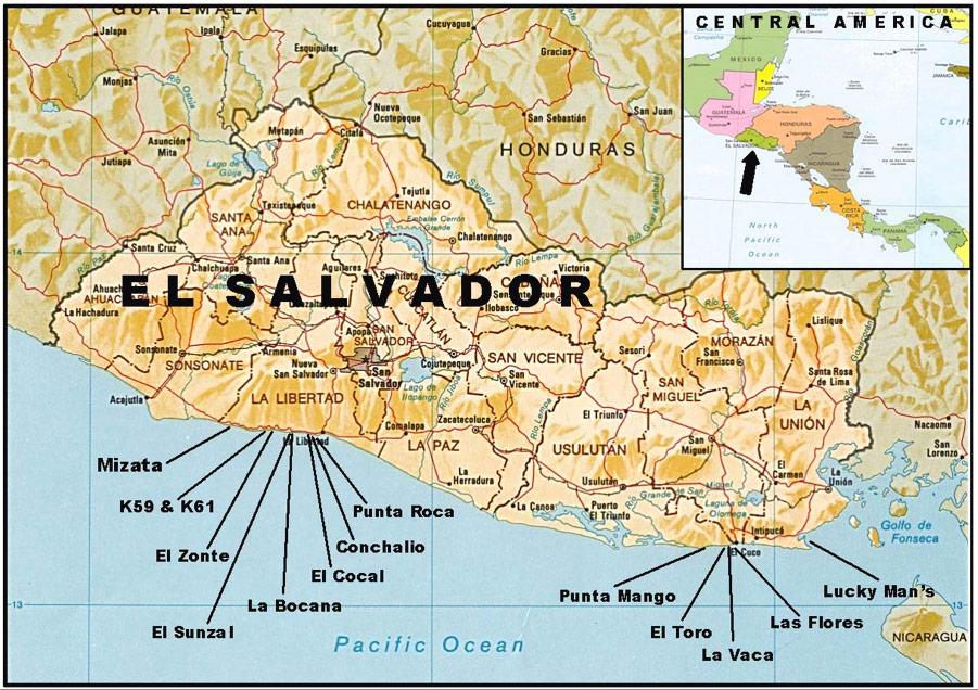mapa surf el salvador