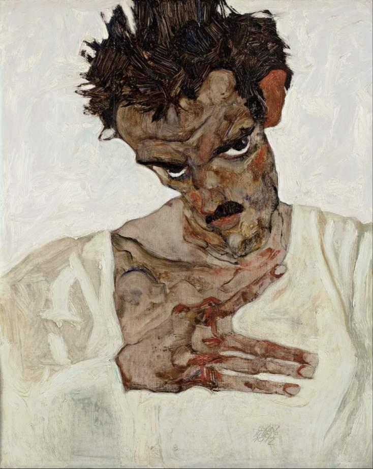 Egon_Schiele_-_Self-Portrait_with_Lowered_Head_-_Google_Art_Project-001