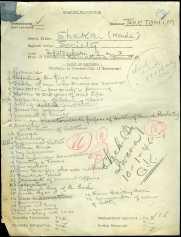 """""""Shakai"""" (Prange Call No. S986) 9/15/1946 CCD document"""