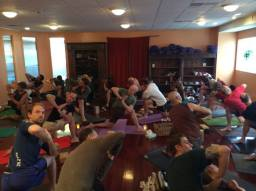 Crowded Mens Yoga