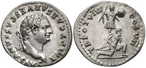 A Roman Coin from the year 66, commemorating the crushing of one of Israel's great messianic uprisings.