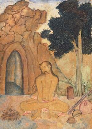 Kukkutasana from the c. 1600 Ocean of Life.