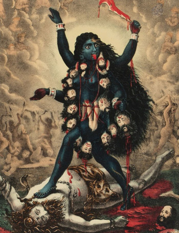 history_of_women_in_yoga-kali-shiva-old-ii
