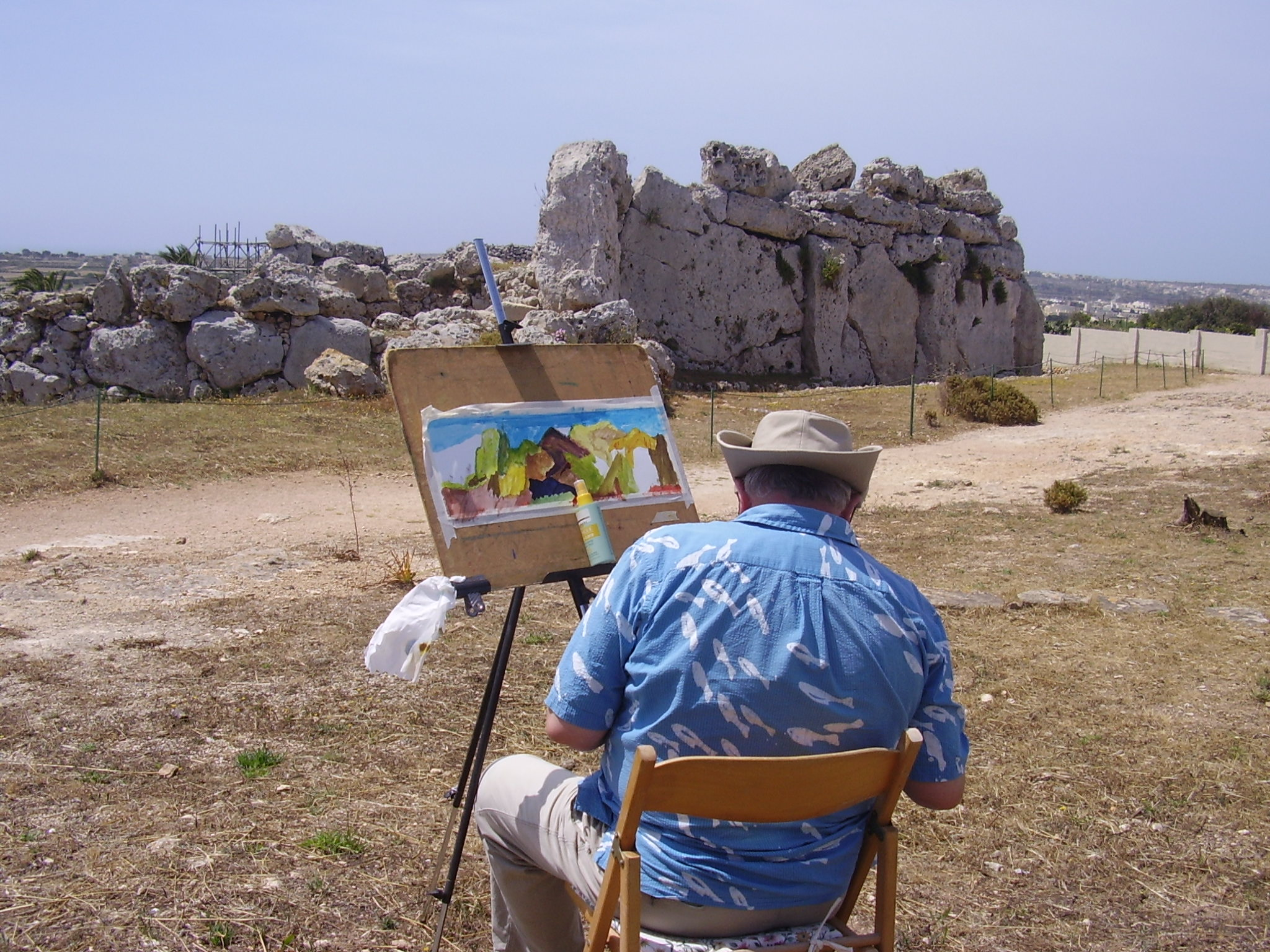 Gjantiga Temples-Oldest Free standing structure of man..Painting classes at Gozo