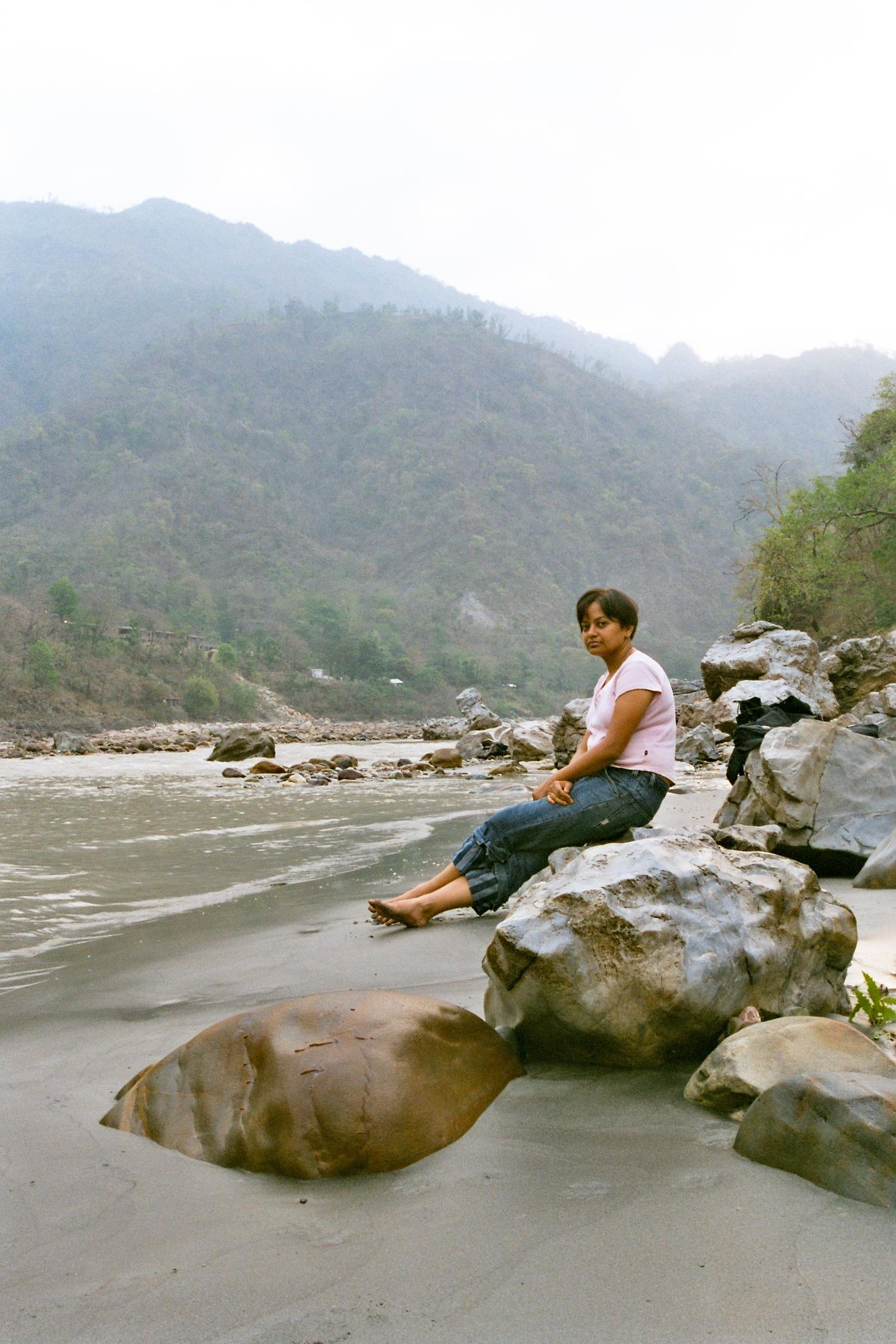 Walking in the hills. Meditations by the river Ganga. Lovely walks beyond Laxman Jhula-Rishikesh