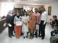 Maltese Indian diaspora The Yoga Group with their certificates-Sukh Sagar Indian Community Centre, San Gjwann, Malta
