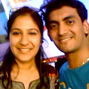 Prasobh Ramachandran with Shwetha Mohan