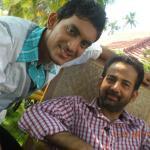Prasobh Ramachandran with Kavalam Sreekumar