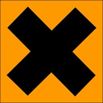 simbol bahan kimia penyebab iritasi