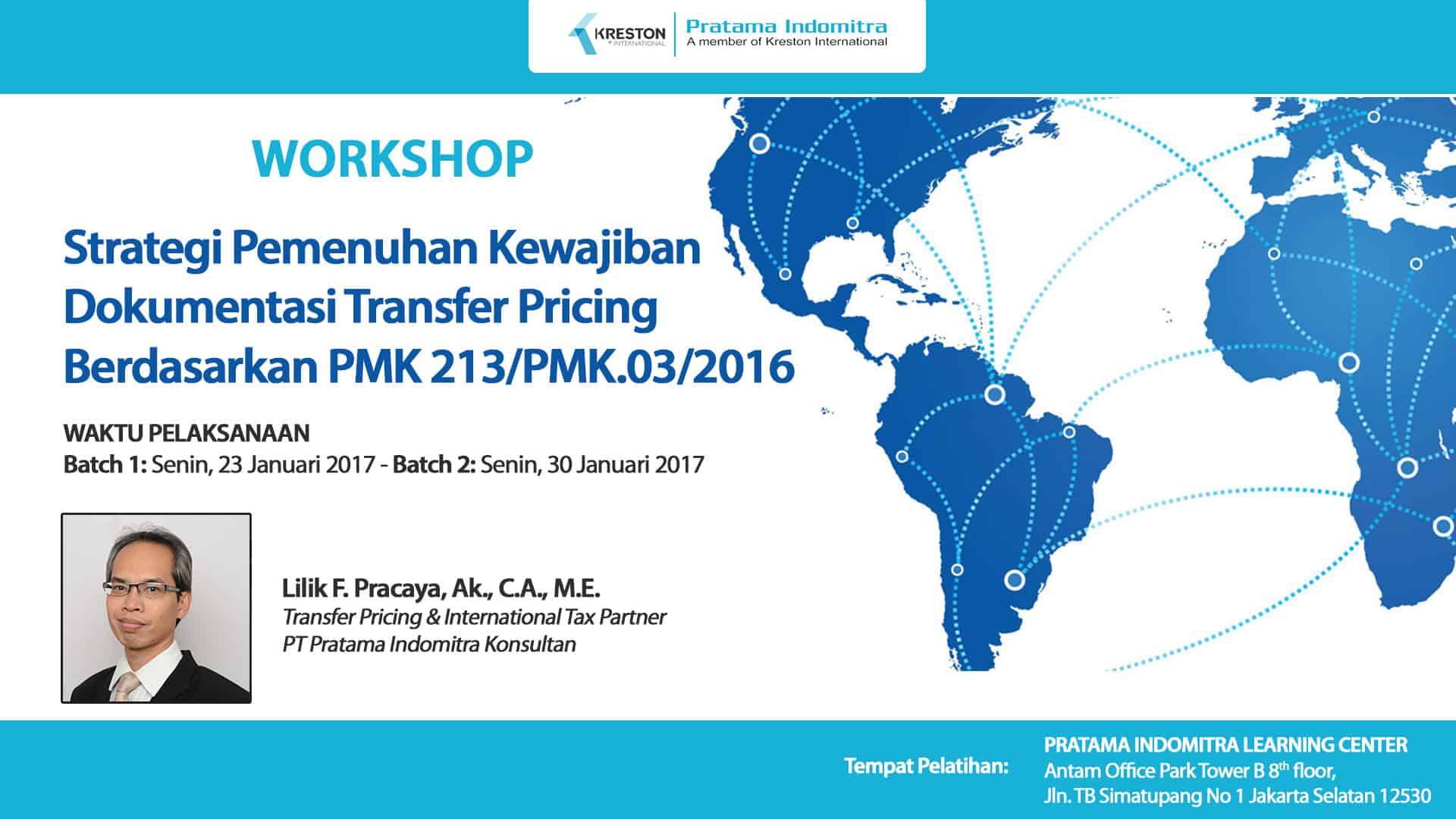 Strategi Pemenuhan Kewajiban Dokumentasi Transfer Pricing Berdasarkan PMK 213/PMK.03/2016 Tanggal 30 Desember 2016