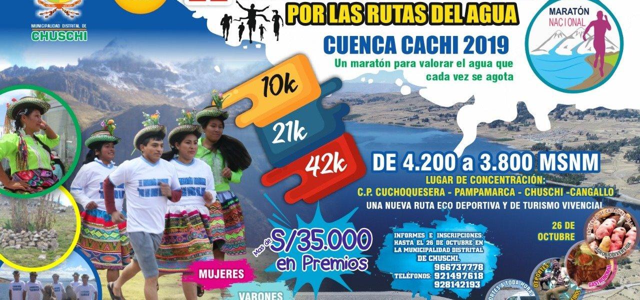 """Ayacucho: Convocan a """"II Maratón Nacional Por las Rutas del Agua 2019"""""""