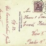 Ansichtskarte von Albert Kobelkoff an seinen Onkel Ernst