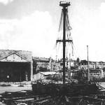 Rudersportkarussell nach dem Angriff, April 1945
