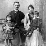 v.l.n.r.: Tochter Rosa, Ehemann Carl, Emilie Schaaf und Sohn Karl
