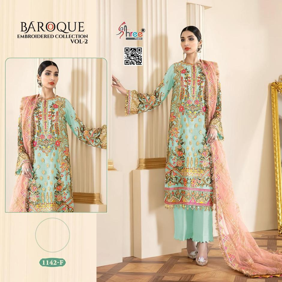 shree fabs baroque embroidered collection vol catalogue wholesale price