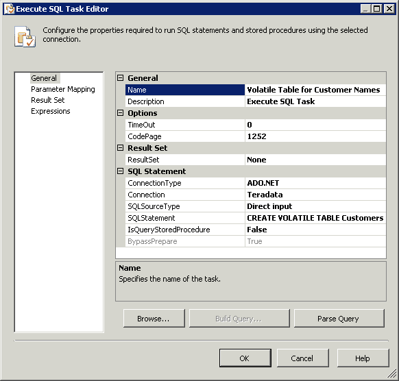 Working With Teradata Volatile Tables And ADO Net Connection