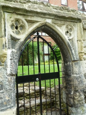Imagine a tonsured Imagine a tonsured monk stepping into a dinghy to fish for carp from this gate