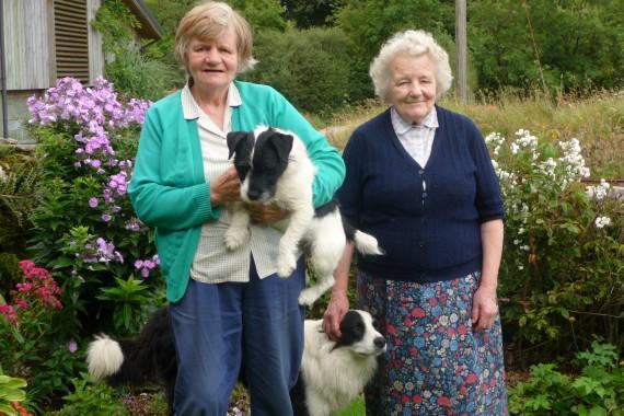 Margaret and Sheila in their garden