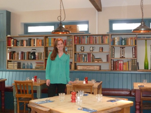 Rosie in the dining area that can accommodate large parties.