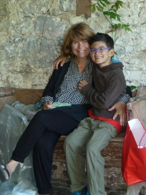 """Paola and Bruno the nephew from """"downtown New York"""""""