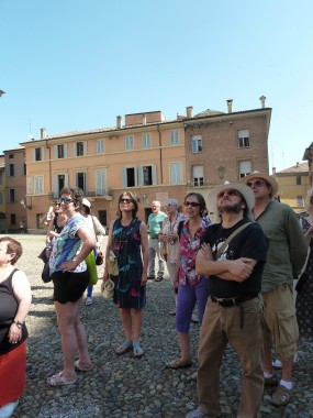 the Italian tour last summer- sightseeeing before a rehearsal