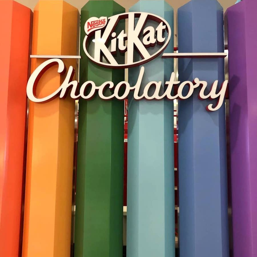 Fachada do Chocolatory Kit Kat