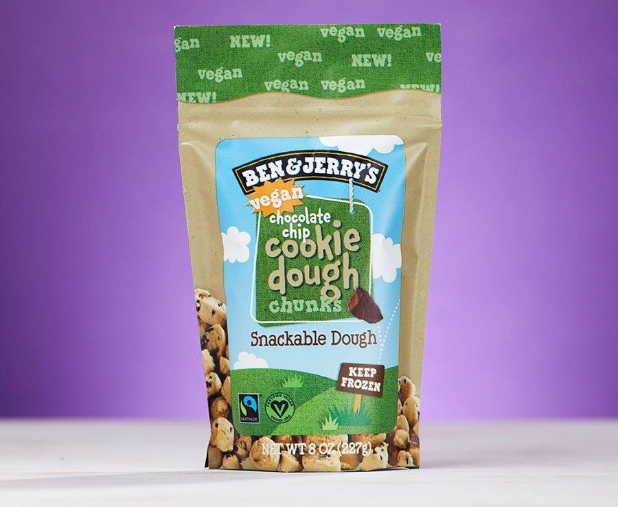 Pacote de massa de cookie sabor chocolate