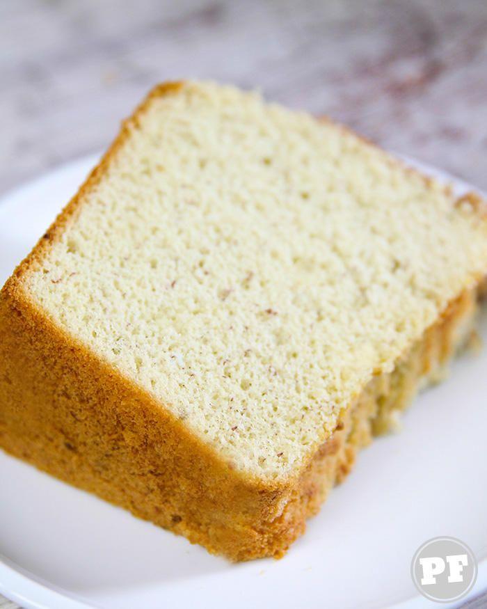 Bolo Chiffon Cake de Banana