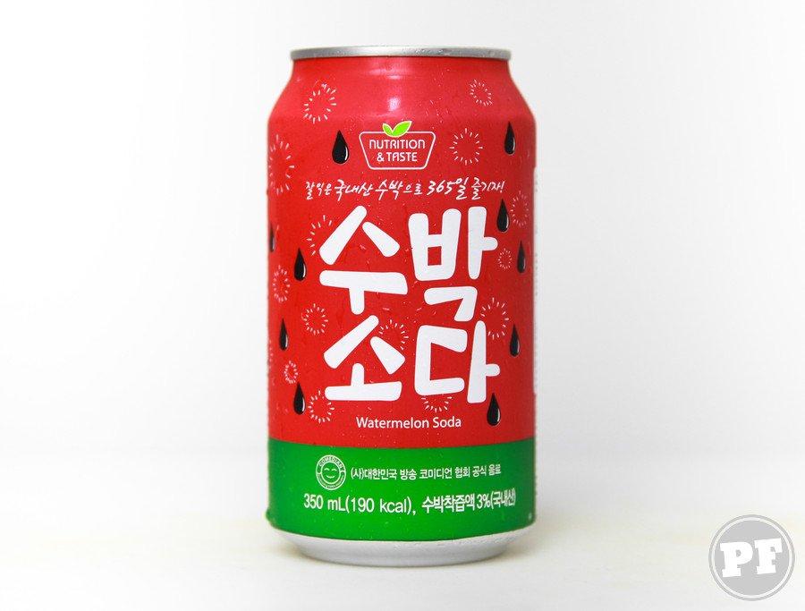 Refrigerante de Melancia Coreano por PratoFundo.com