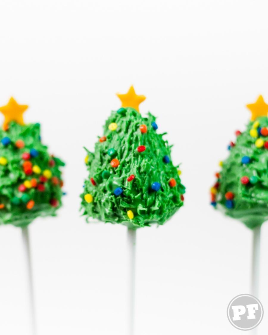Cake Pop Pinheirinho: Bolinho de Natal