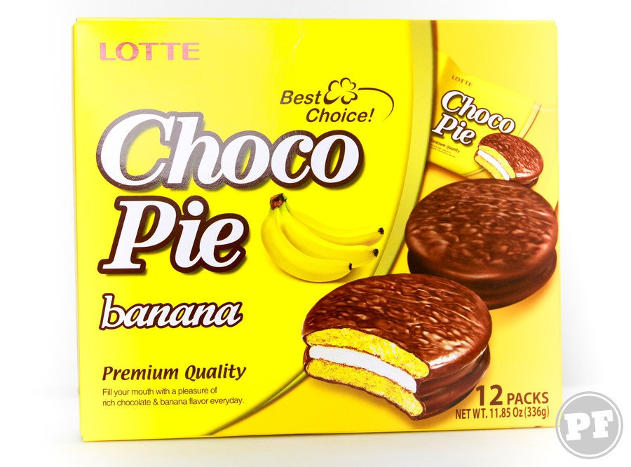 Choco Pie Banana da Lotte por PratoFundo.com