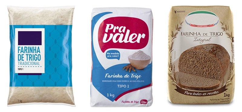 Exemplos de farinhas do Brasil