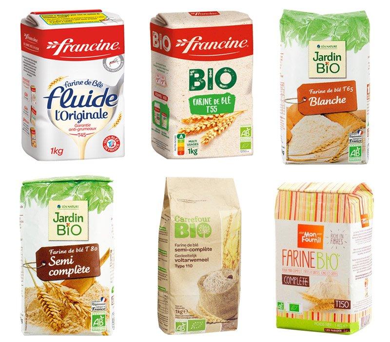 Exemplos de farinhas da França