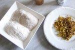 Prato com farinha e uvas passas