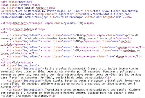 Código Google Recipe