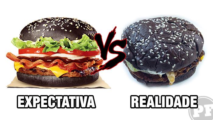 Burger King: Expectativa vs. Realidade