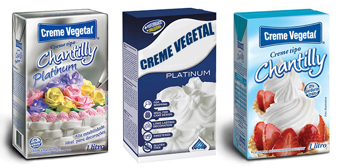 Ingredientes: Creme Vegetal