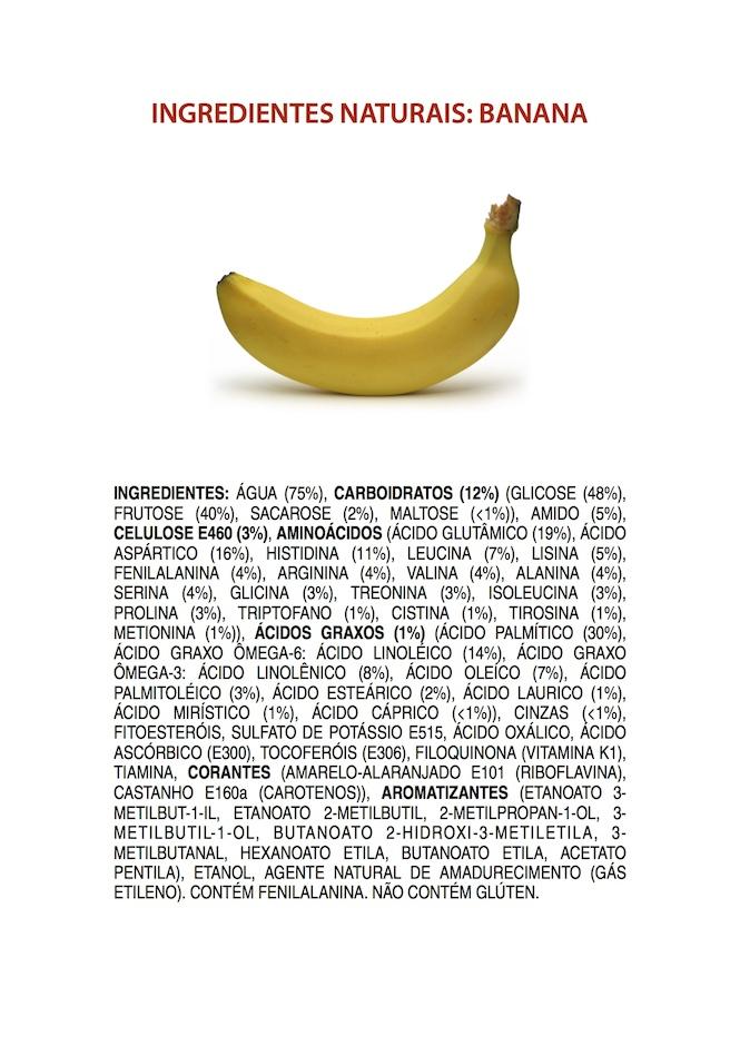 Ingredientes Naturais: Banana