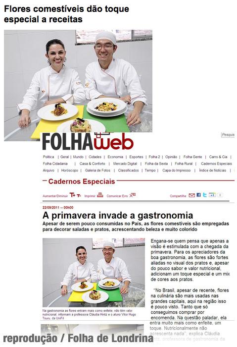 Na Mídia: Pratos com Flores na Folha de Londrina