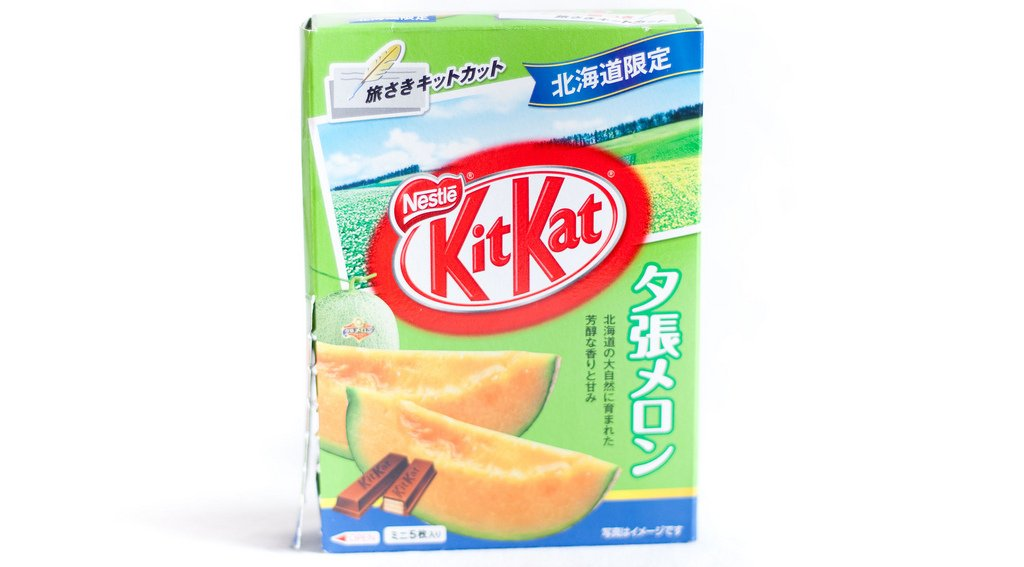 Embalagem do Nestlé KitKat Yubari Melon