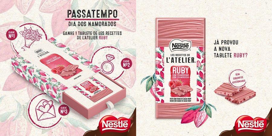 Banner promocional da Nestlé Portugal para os dias dos namorados