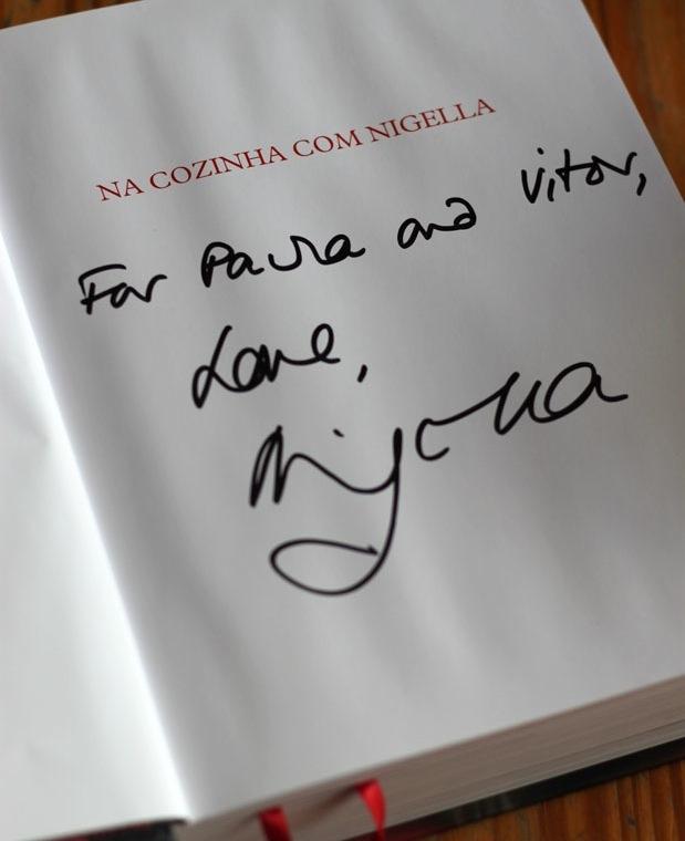 Nigella Lawson no Brasil - Autógrafo