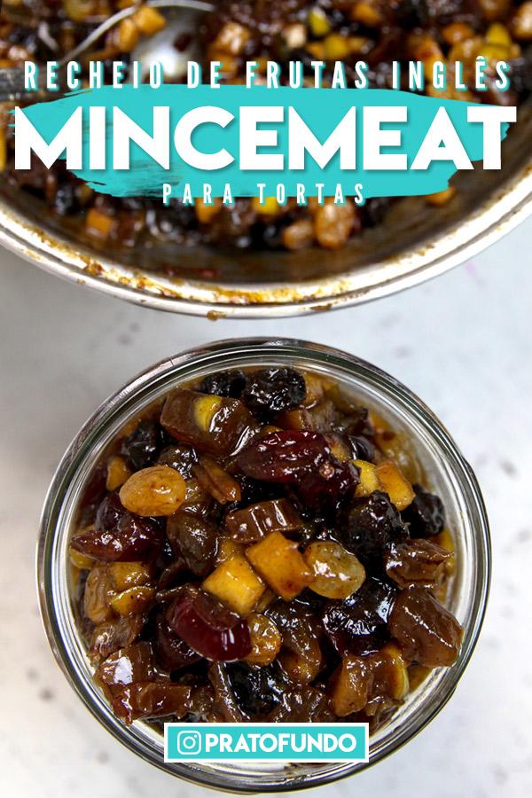 Pin: Frutas picadas cozidas para recheio de torta dentro de um pote