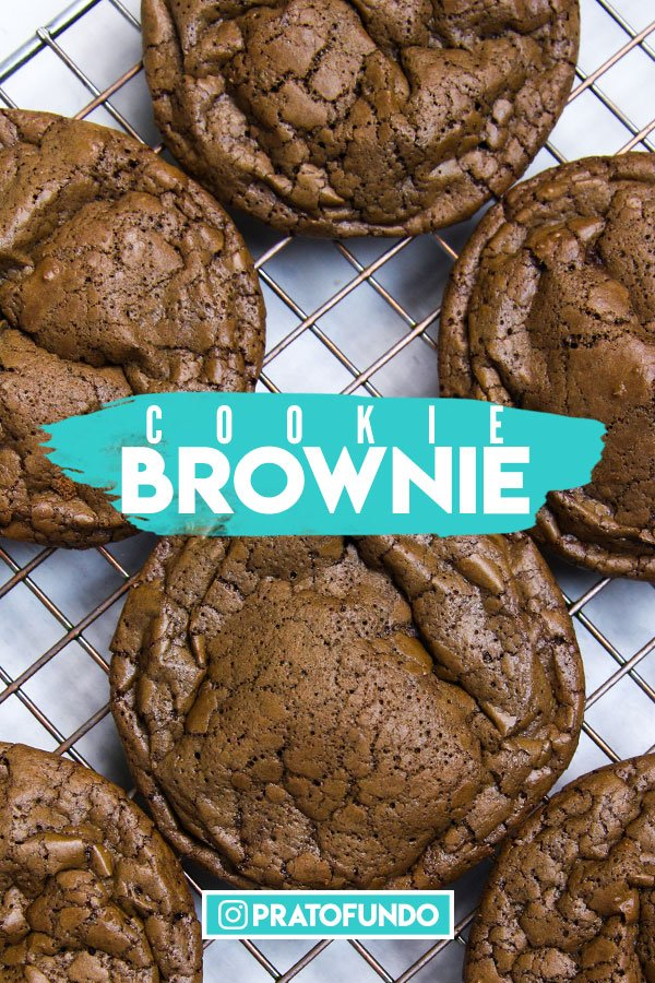 Cookie Brownie de Chocolate