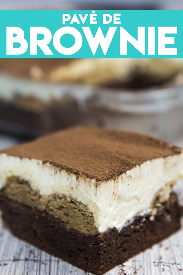 Pavê de Brownie, Nutella e Cream Cheese