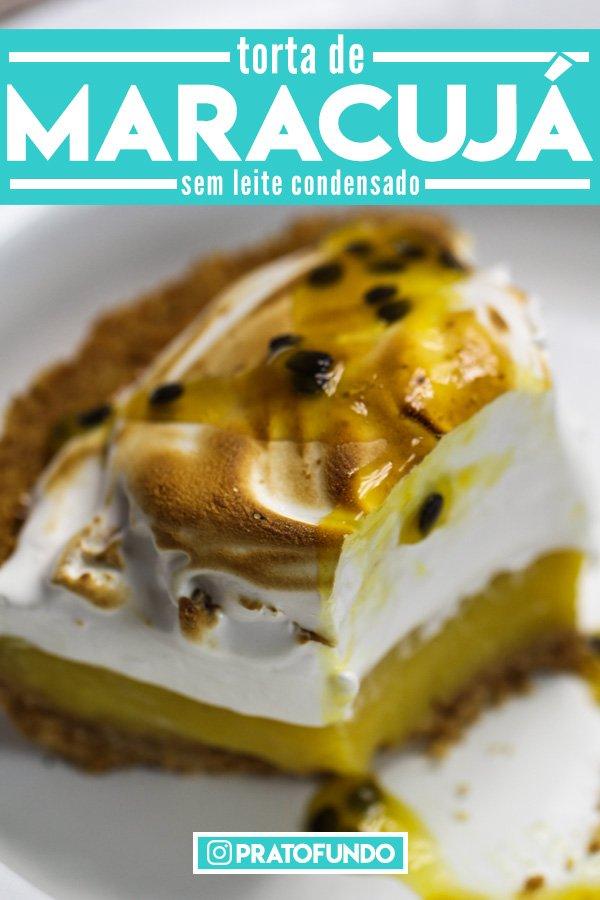 Torta de Maracujá Cremosa