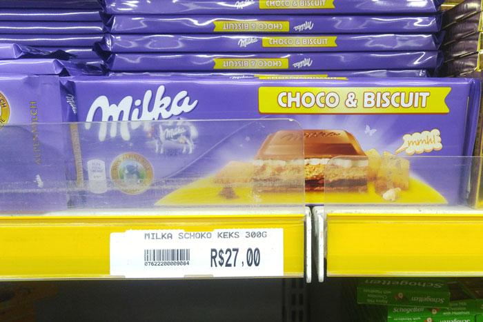Barra Milka Choco e Biscuit