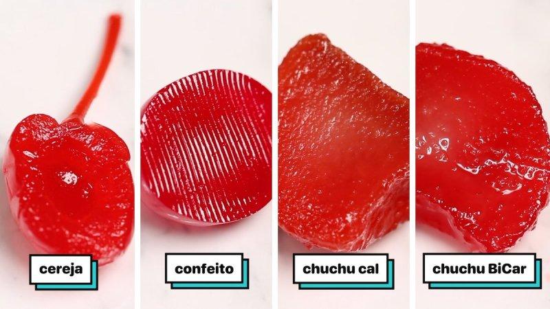 Comparativo entre os tipos de cerejas.